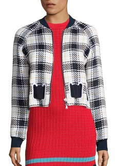 3.1 Phillip Lim Surf Plaid Bomber Jacket