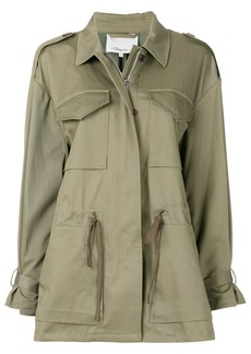 3.1 Phillip Lim Sweater-back utility parka - Green