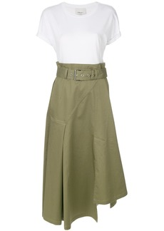 3.1 Phillip Lim T-shirt two-tone wrap dress - Green