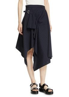 3.1 Phillip Lim Tailored Pinstripe Handkerchief Skirt
