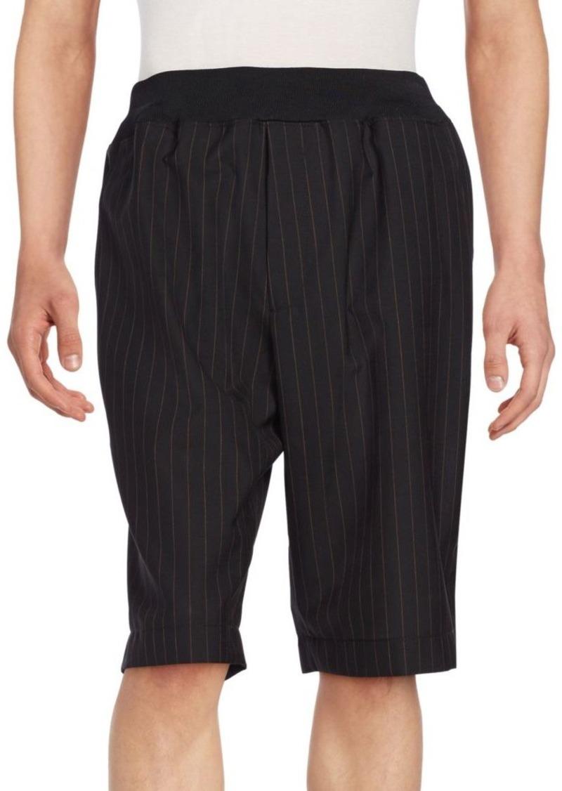 3.1 Phillip Lim Tapered Pinstripe Wool Shorts