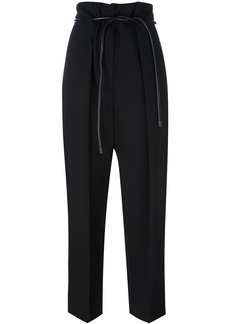 3.1 Phillip Lim tied high-waist trousers - Black