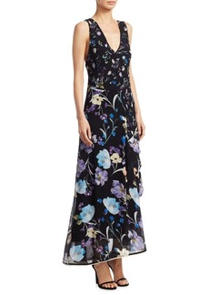 3.1 Phillip Lim Tiered Floral Silk Maxi Dress