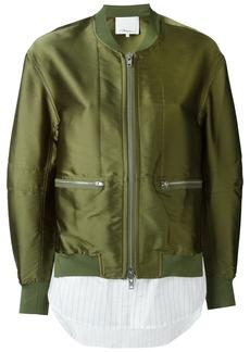 3.1 Phillip Lim trompe l'oeil bomber jacket - Green