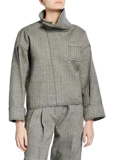 3.1 Phillip Lim Tweed Zippered Blouse