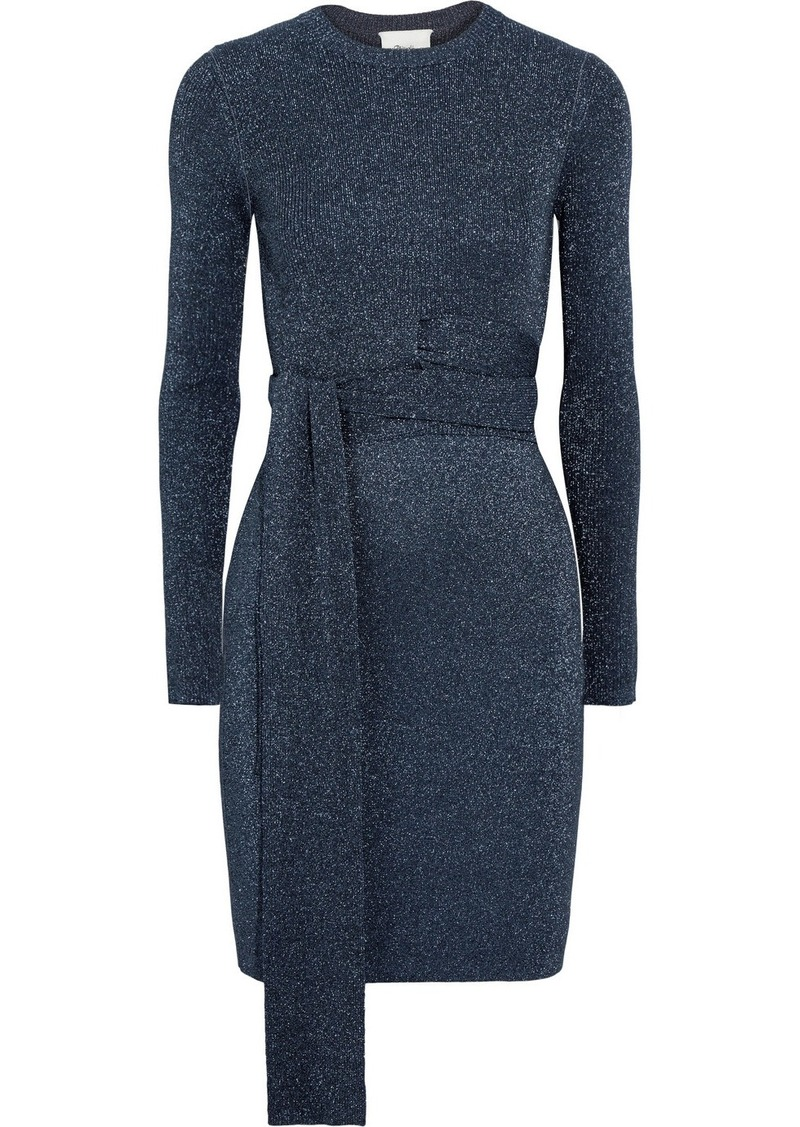 3.1 Phillip Lim Twisted metallic ribbed-knit dress