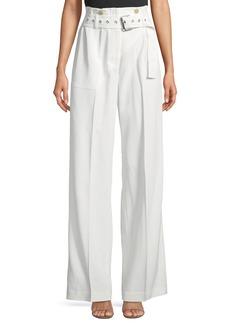 3.1 Phillip Lim Utility Belted High-Waist Cotton Pants