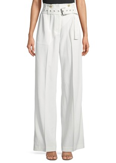 3.1 Phillip Lim Utility Belted High-Waist Cotton Pants