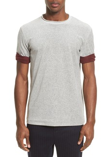 3.1 Phillip Lim Velour Crewneck T-Shirt