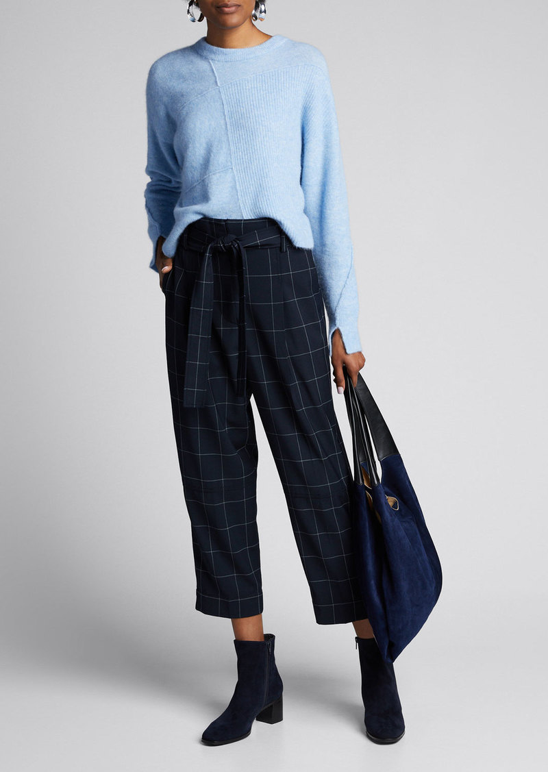 3.1 Phillip Lim Windowpane Belted Menswear Pants