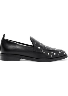 3.1 Phillip Lim Woman Alexa Embellished Leather Loafers Black