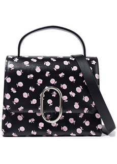 3.1 Phillip Lim Woman Alix Mini Floral-print Leather Shoulder Bag Black