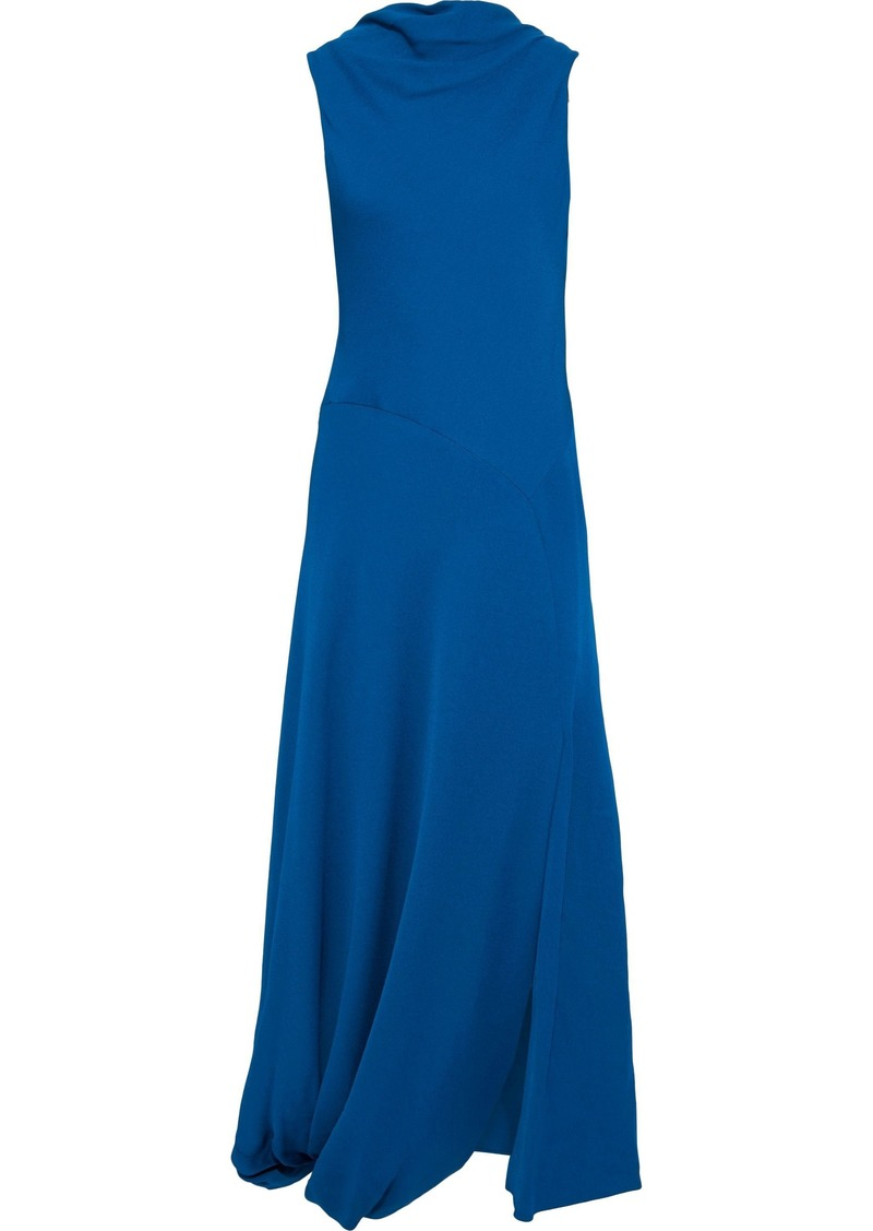 3.1 Phillip Lim Woman Asymmetric Draped Crepe Maxi Dress Cobalt Blue