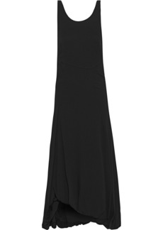 3.1 Phillip Lim Woman Open-back Gathered Crepe Midi Dress Black