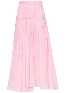 3.1 Phillip Lim Woman Asymmetric Pleated Taffeta Midi Skirt Baby Pink