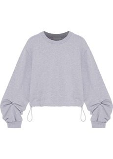 3.1 Phillip Lim Woman Barbell-embellished French Cotton-terry Sweatshirt Light Gray
