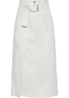 3.1 Phillip Lim Woman Belted Cotton Midi Skirt Ecru