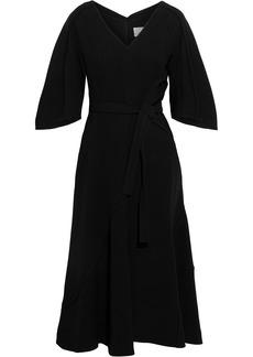 3.1 Phillip Lim Woman Belted Pintucked Crepe Midi Dress Black
