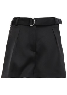 3.1 Phillip Lim Woman Belted Satin-crepe Shorts Black