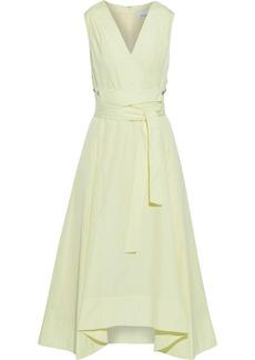 3.1 Phillip Lim Woman Belted Snap-detailed Cotton-poplin Midi Dress Pastel Yellow
