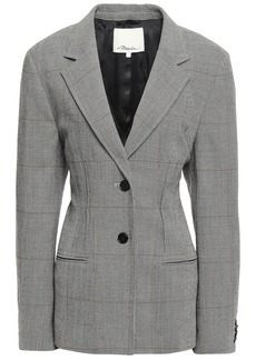 3.1 Phillip Lim Woman Prince Of Wales Checked Wool-blend Blazer Gray