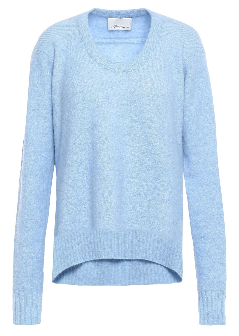 3.1 Phillip Lim Woman Mélange Brushed-knitted Sweater Light Blue