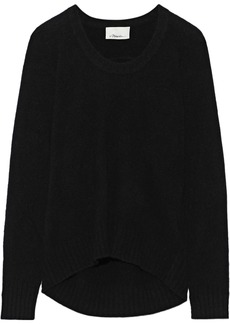 3.1 Phillip Lim Woman Mélange Brushed-knitted Sweater Black