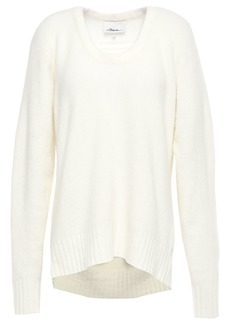 3.1 Phillip Lim Woman Mélange Brushed-knitted Sweater Ivory