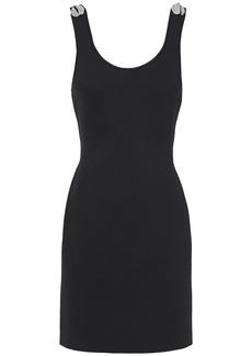 3.1 Phillip Lim Woman Button-embellished Cutout Ponte Mini Dress Black