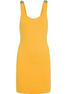 3.1 Phillip Lim Woman Button-embellished Cutout Ponte Mini Dress Marigold