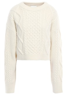 3.1 Phillip Lim Woman Cable-knit Wool Sweater Ivory