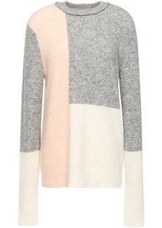 3.1 Phillip Lim Woman Color-block Brushed Knitted Sweater Multicolor