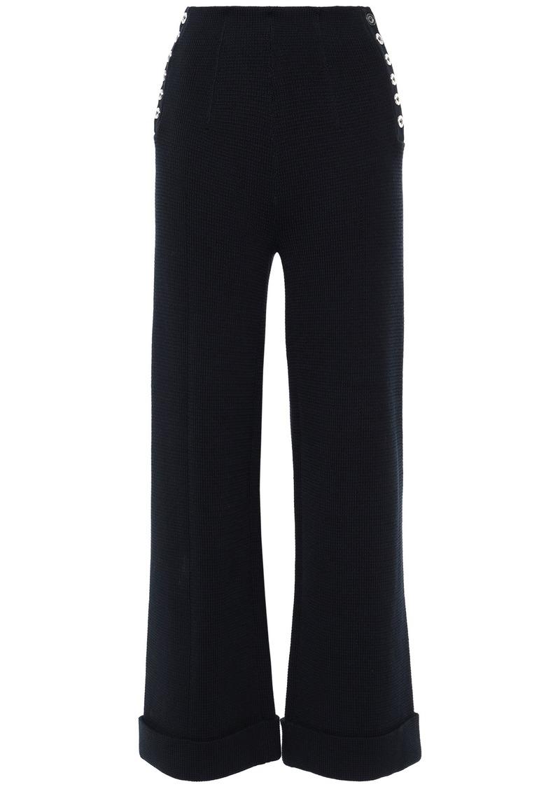 3.1 Phillip Lim Woman Cotton Wide-leg Pants Navy