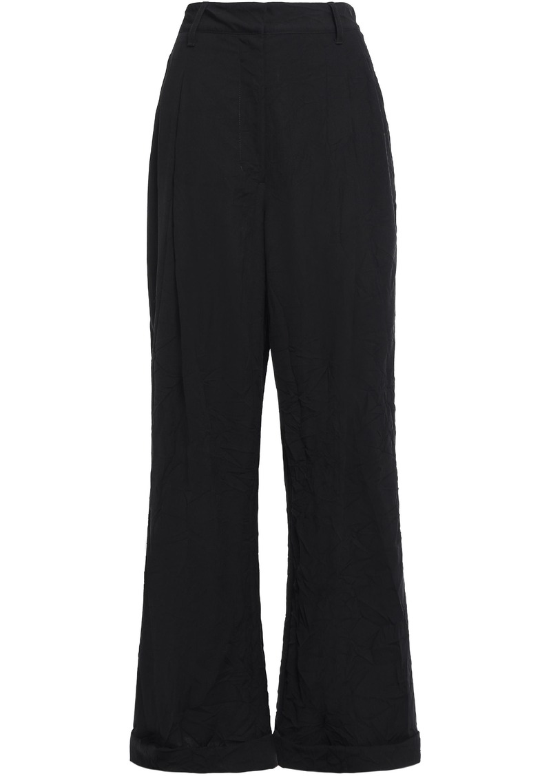3.1 Phillip Lim Woman Pleated Crepe Wide-leg Pants Black