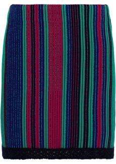 3.1 Phillip Lim Woman Crochet-trimmed Striped Jacquard-knit Mini Skirt Multicolor