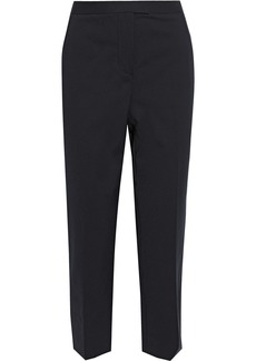 3.1 Phillip Lim Woman Cropped Cotton-blend Tapered Pants Black