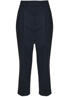 3.1 Phillip Lim Woman Cropped Cotton-blend Tapered Pants Midnight Blue