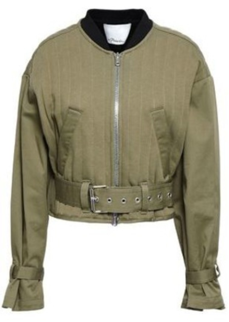 08b2a7a79 Woman Cropped Quilted Cotton-gabardine Bomber Jacket Army Green