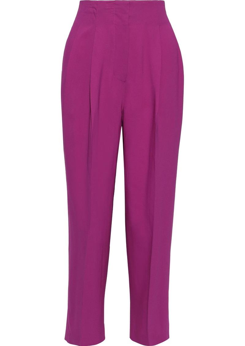 3.1 Phillip Lim Woman Cropped Stretch-crepe Straight-leg Pants Fuchsia