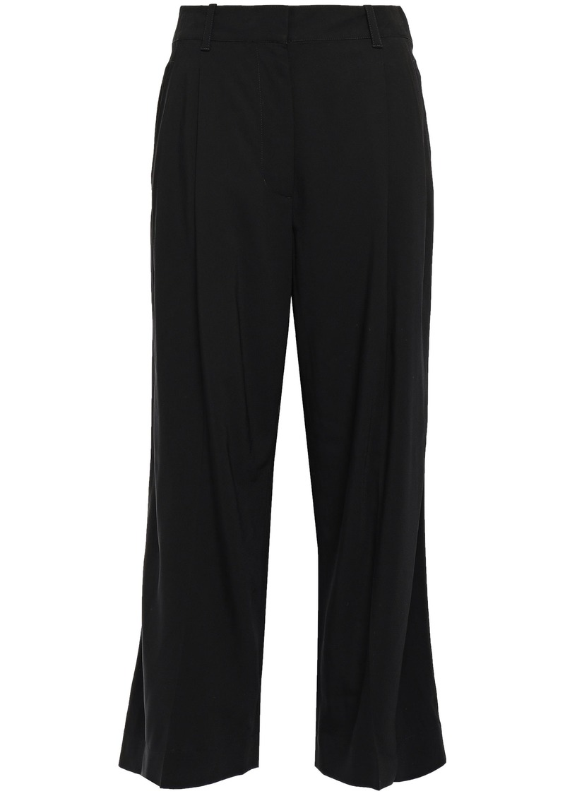 3.1 Phillip Lim Woman Pleated Twill Wide-leg Pants Black