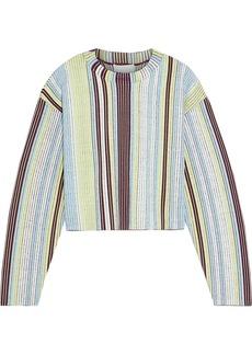 3.1 Phillip Lim Woman Cropped Striped Jacquard-knit Sweater Multicolor