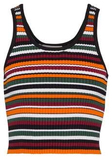 3.1 Phillip Lim Woman Cropped Striped Ribbed-knit Tank Multicolor