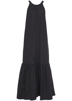 3.1 Phillip Lim Woman Cutout Gathered Cotton-poplin Maxi Dress Black