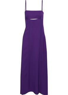 3.1 Phillip Lim Woman Cutout Pleated Crepe Maxi Dress Purple