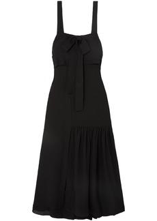 3.1 Phillip Lim Woman Layered Bow-detailed Cutout Silk-crepe Maxi Dress Black