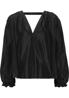 3.1 Phillip Lim Woman Cutout Silk-taffeta Blouse Black