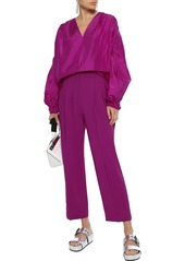 3.1 Phillip Lim Woman Cutout Silk-taffeta Blouse Magenta
