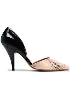 3.1 Phillip Lim Woman Diamond Snake And Patent-leather Pumps Pastel Pink