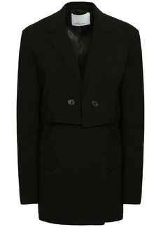 3.1 Phillip Lim Woman Double-breasted Crepe Blazer Black