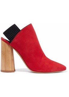3.1 Phillip Lim Woman Drum Suede Slingback Ankle Boots Tomato Red